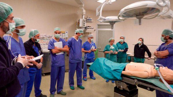 Prelievo di polmone - simulazione a cura di NTF Niguarda Transplant Foundation