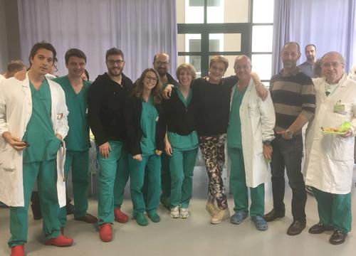 Staff medico con la Dottoressa Rossetti